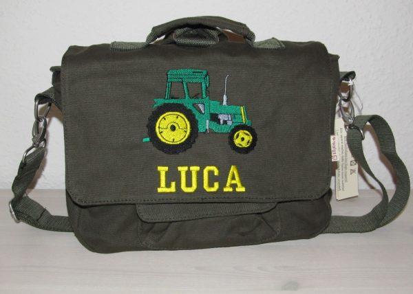 Kindergartentasche mit Namen und Traktor Fendt