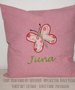 Kissen mit Namen Schmetterling B