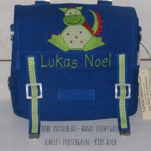 Kindergartentasche mit Namen und Drache