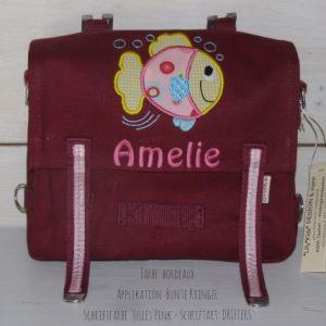 Kindergartentasche mit Namen und Fisch