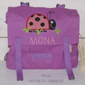 Kindergartentasche mit Namen und Käfer
