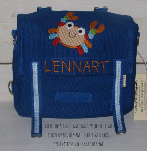 Kindergartentasche mit Namen und Krebs