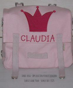 Kindergartentasche mit Namen und Krone Diamant