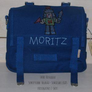 Kindergartentasche mit Namen und Ritter