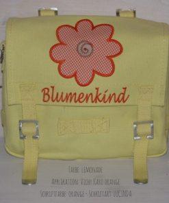 Kindergartentasche mit Namen und Sonnenblume