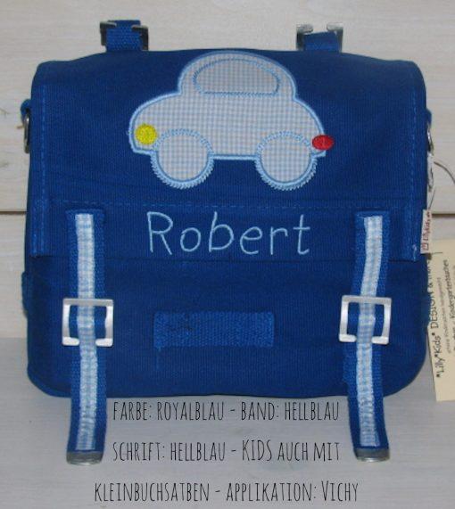 Kindergartentasche mit Namen und Auto