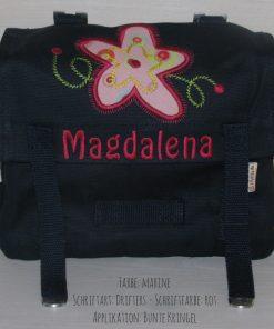 Kindergartentasche mit Namen und Blume A