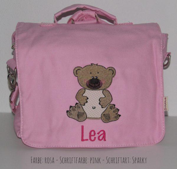 Canvastasche mit Namen und Bär