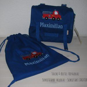 Kindergarten-Taschen-Set Feuerwehr