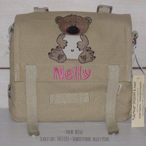 Kindergartentasche mit Namen und Bär