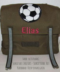 Kindergartentasche mit Namen und Fussball