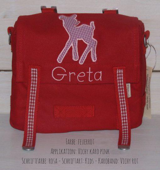 Kindergartentasche mit Namen und Bambi