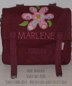 Kindergartentasche mit Namen und Blume B