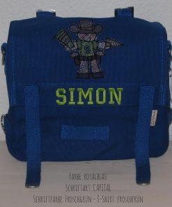 Kindergartentasche mit Namen und Cowboy