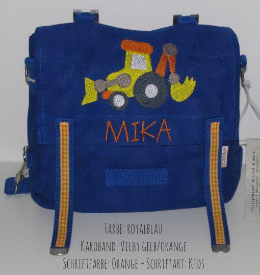 Kindergartentasche Radlader blau