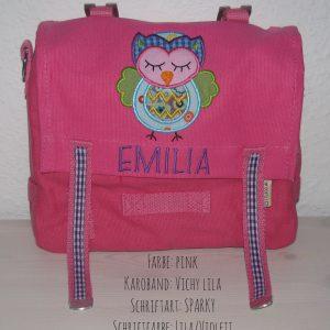 Kindergartentasche mit Namen und Eule