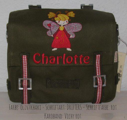 Kindergartentasche mit Namen und Fee a