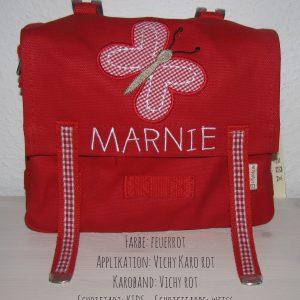 Kindergartentasche mit Namen und Schmetterling B