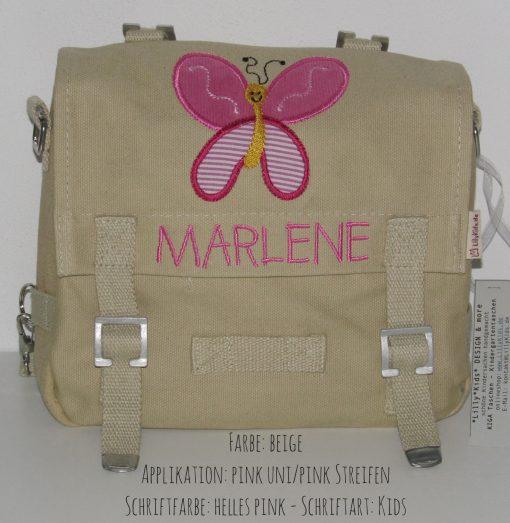 Kindergartentasche mit Namen Schmetterling C