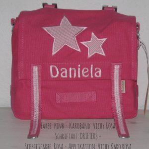 Kindergartentasche mit Namen und Sternen