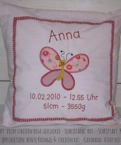 Kissen mit Namen Schmetterling c