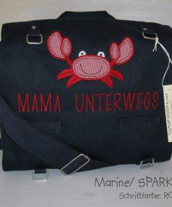 Wickeltasche mit Namen Krabbe