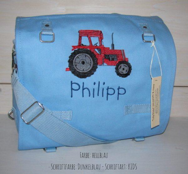 Wickeltasche mit Namen Traktor