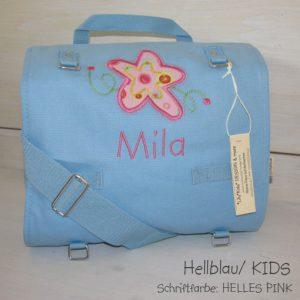 Wickeltasche mit Namen Blume a