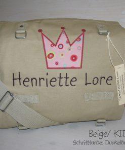 Wickeltasche mit Namen Krone gerade