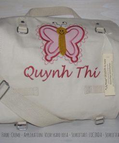 Wickeltasche mit Namen Schmetterling A