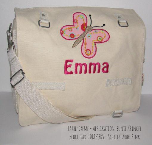 Wickeltasche mit Namen Schmetterling B
